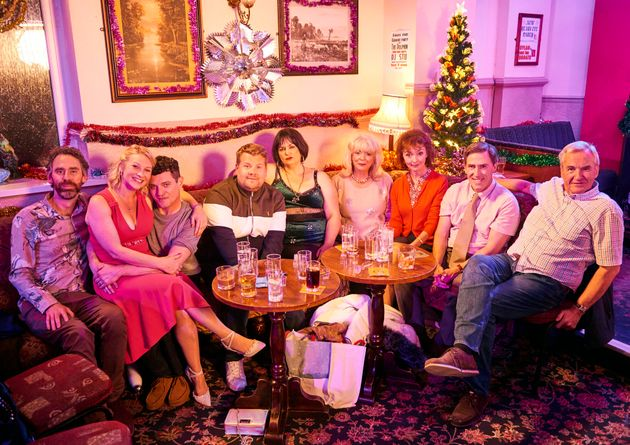 Robert Wilfort poses with the rest of the reunited Gavin & Stacey
