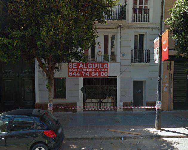 Imagen captada de la fachada del local en mayo del