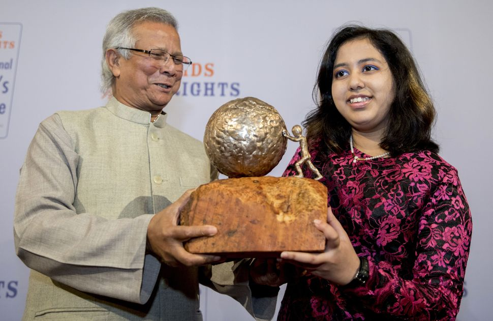 Kehkashan Basu received the International Children's Peace Prize in 2016 for the work done by her child-run organization Gree