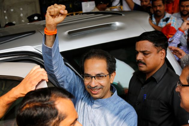 Shiv Sena leader Uddhav Thackeray in Mumbai earlier this