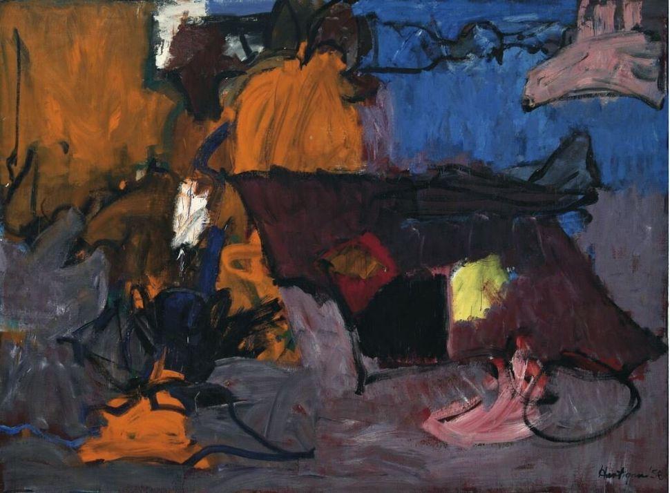 Grace Hartigan<i>Irlanda</i>&nbsp;<i>Ireland</i>, 1958<br />Olio su tela / Oil on canvas200 x 271 cm<br />Collezione Peggy Guggenheim, Venezia