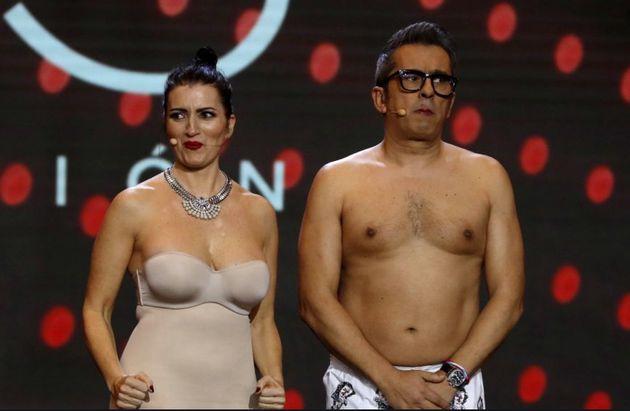 Silvia Abril y Andreu Buenafuente durante la última gala de los premios