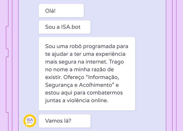 Isa.Bot deseja espalhar informação, segurança e acolhimento para mulheres que sofrem...