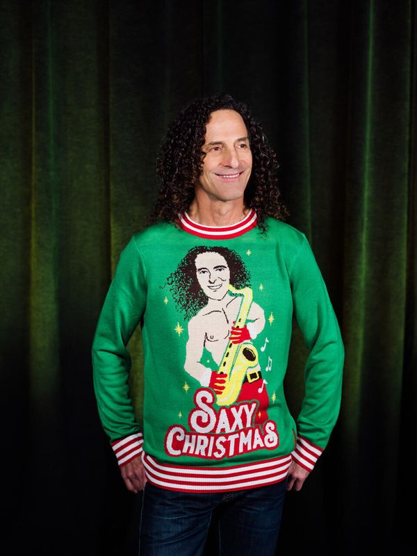 "Each year, we think Christmas sweaters can't get any uglier -- and then <a href=""https://www.tipsyelves.com/kenny-g-christmas"