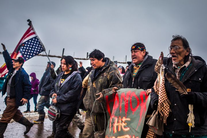 Dakota Access Pipeline water protectors faced-off with various law enforcement agencies in February2017.