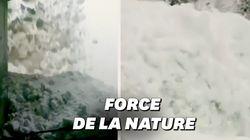 Les images d'une gigantesque avalanche filmée au plus