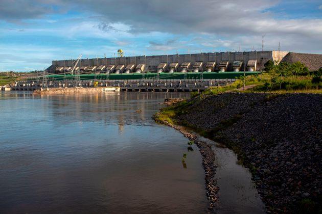 Vista da usina Belo Monte em Altamira