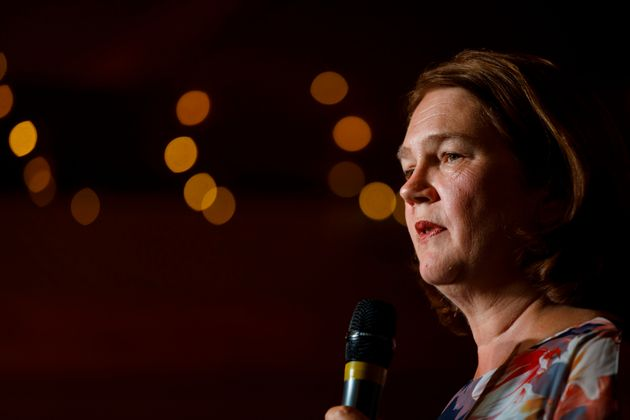 Jane Philpott speaks in her riding of Markham-Stouffville in Whitchurch-Stouffville, Ont. on Sept. 21,