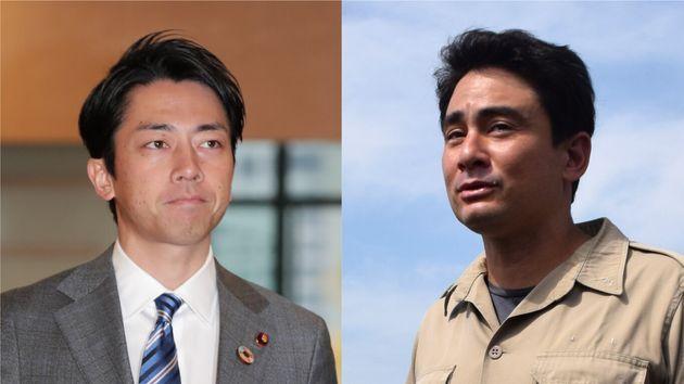 小泉進次郎環境相(左)と野口健さん