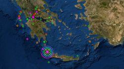Ισχυρός σεισμός 6,1 Ρίχτερ μεταξύ Κυθήρων και