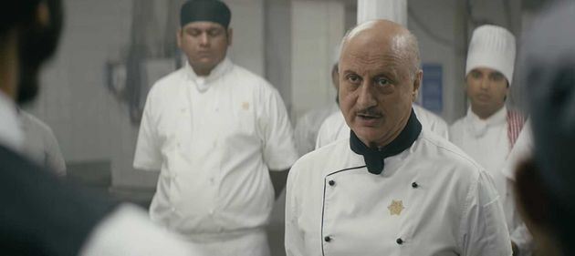 Anupam Kher in a still from 'Hotel