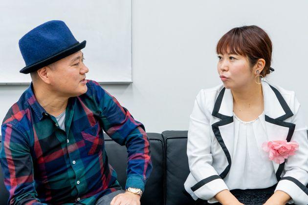 「恋愛は確率論」と語る大木さん(左)と「恋愛にエモさは大事」と語る関谷さん
