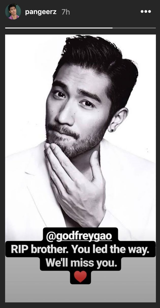 Charlie's Angels and Crazy Rich Asians actor Chris Pang paid tribute to Godrey