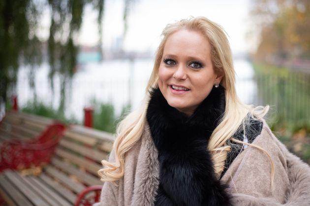 Tech Entrepreneur Jennifer Arcuri poses for photographs in Battersea Park on November 19, 2019 in