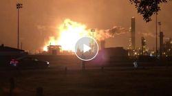 Esplode uno stabilimento chimico in Texas. Una palla di fuoco illumina la notte