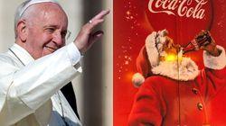 Il presepe contro il Babbo Natale della Coca Cola. Papa Francesco scende in campo con una