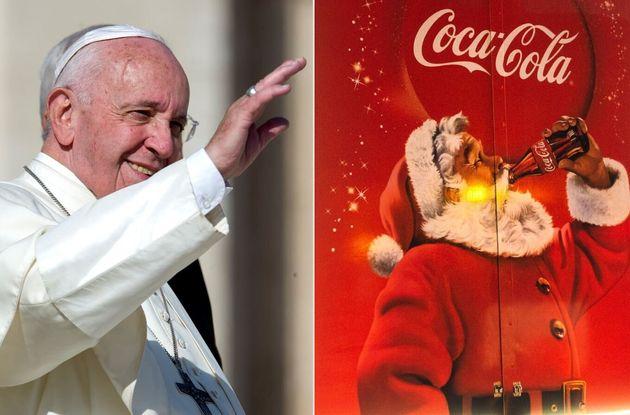Coca Cola Babbo Natale.Il Presepe Contro Il Babbo Natale Della Coca Cola Papa Francesco Scende In Campo Con Una Lettera L Huffpost