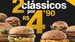 McDonald's 'reage' contra rivais e vende 2 sanduíches por R$ 4,90 na Black