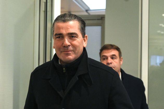 Frederic Chatillon lors de son arrivée au tribunal de Grande instance de Paris le 6