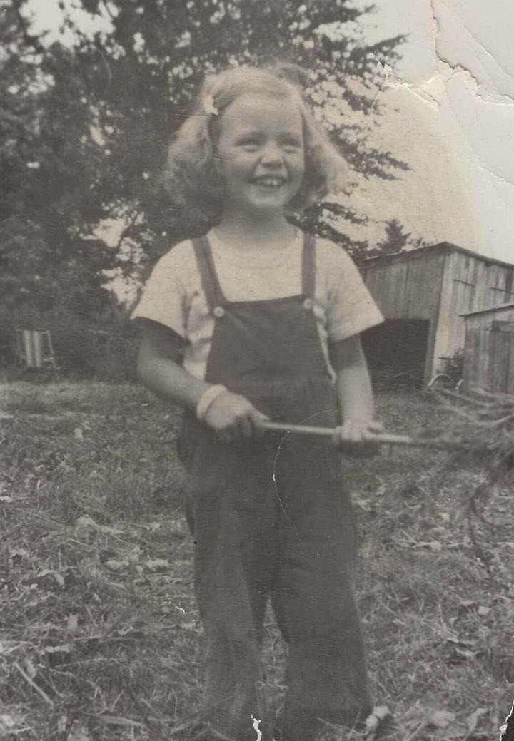 Nicole Gladu à Sainte-Sophie, 1948