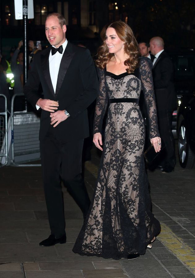 The Duke and Duchess of Cambridge attend the Royal Variety Performance at the London