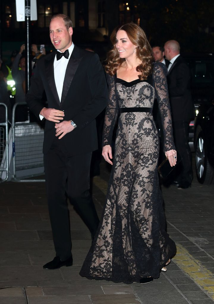 The Duke and Duchess of Cambridge attend the Royal Variety Performance at the London Palladium.