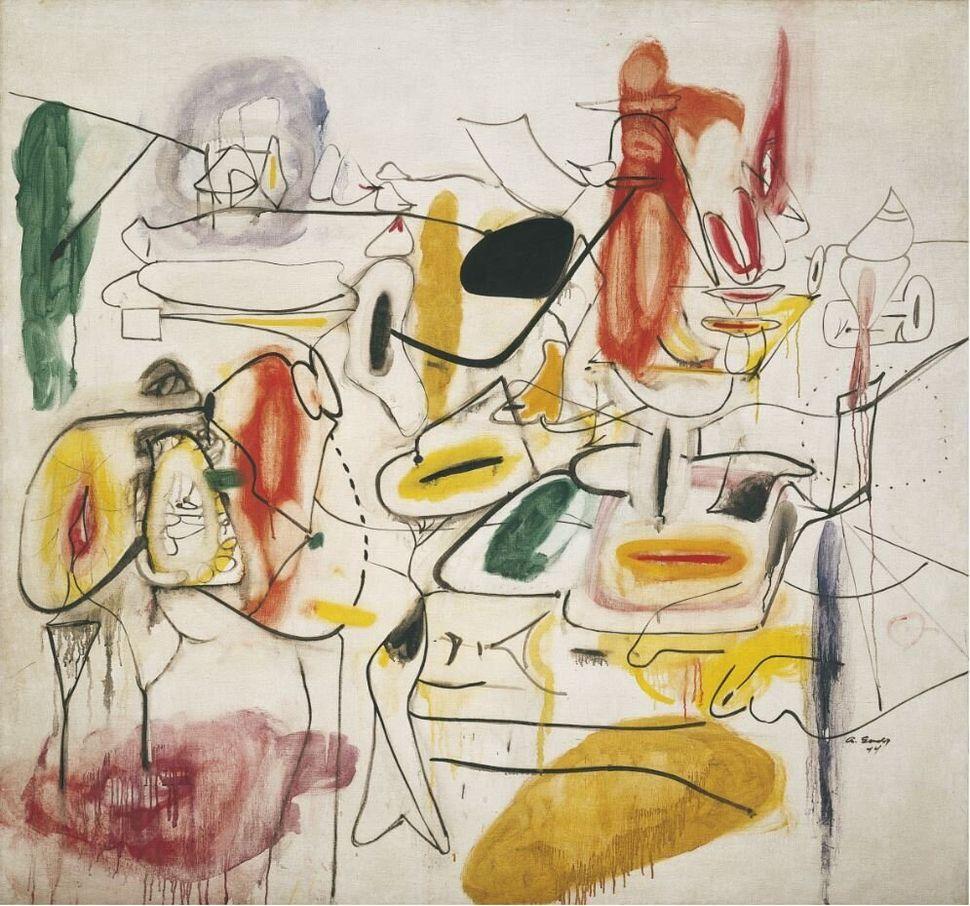 Arshile Gorky<i>Senza titolo</i><i>Untitled</i>, estate / summer 1944<br />Olio su tela / Oil on canvas167 x 178,2 cm