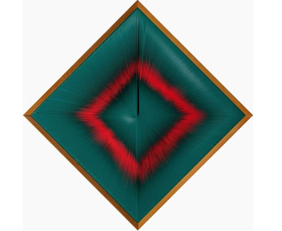 Alberto BiasiDinamica visualVisual Dynamics, 1964PVC su tavola / PVC on board48,6 x 48,6 x 3 cmCollezione Peggy Guggenheim, Venezia