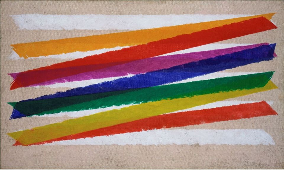Piero DorazioUnitas, 1965Olio su tela / Oil on canvas45,8 x 76,5 cmCollezione Peggy Guggenheim, Venezia