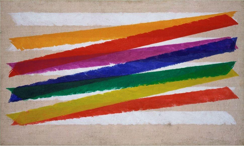 Piero Dorazio<i>Unitas</i>, 1965<br />Olio su tela / Oil on canvas45,8 x 76,5 cm<br />Collezione Peggy Guggenheim, Venezia <br />