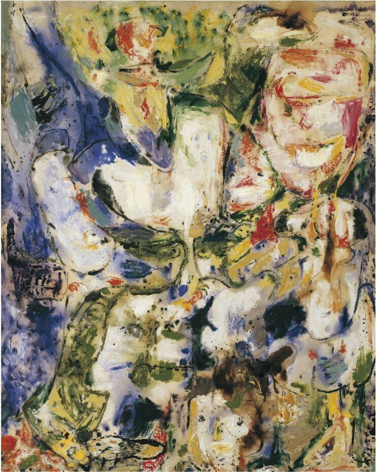 Asger Jorn<i>Senza titolo</i>&nbsp;<i>Untitled</i>, 1956&ndash;57<br />Olio su tela / Oil on canvas141 x 110, 1 cm<br />Collezione Peggy Guggenheim, Venezia&nbsp;