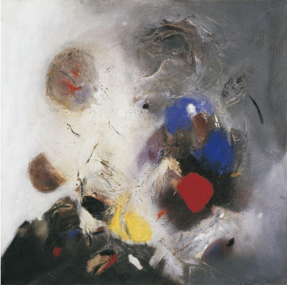 Edmondo Bacci<i>Avvenimento #247</i><i>Event #247</i>, 1956Olio con sabbia su tela / Oil with sand on canvas140,2 x 140 cm&nbsp;