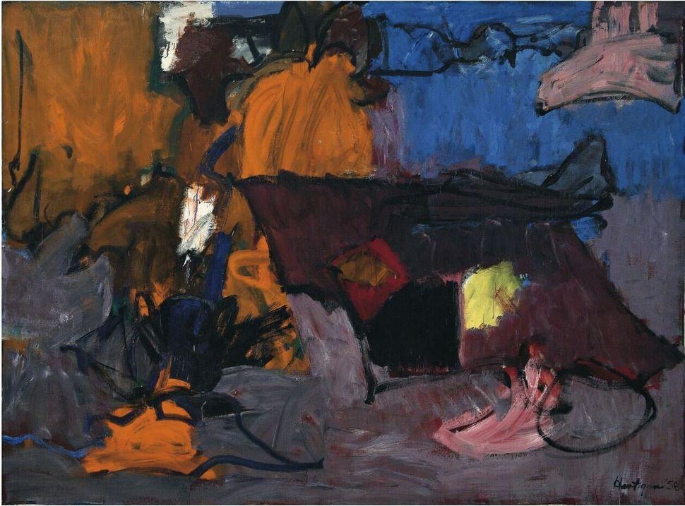 Grace Hartigan<i>Irlanda</i>&nbsp;<i>Ireland</i>, 1958<br />Olio su tela / Oil on canvas200 x 271 cm<br />Collezione Peggy Guggenheim, Venezia&nbsp;