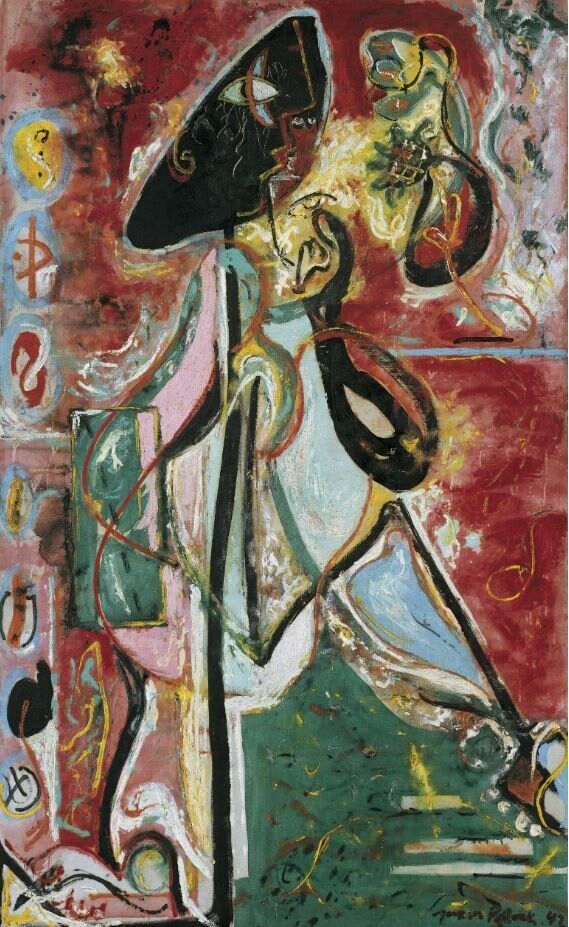 Jackson PollockLa donna lunaThe Moon Woman, 1942Olio su tela / Oil on canvas175,2 x 109,3 cmCollezione Peggy Guggenheim, Venezia