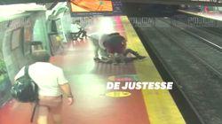 Absorbé par son téléphone, cet Argentin est tombé sur les rails du métro mais l'a échappé