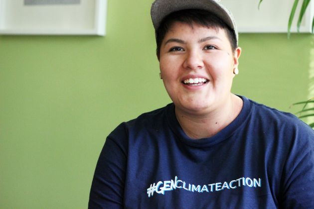 Beze Gray, 24, grew up beside petrochemical refineries and saw how pollution impacts people and the