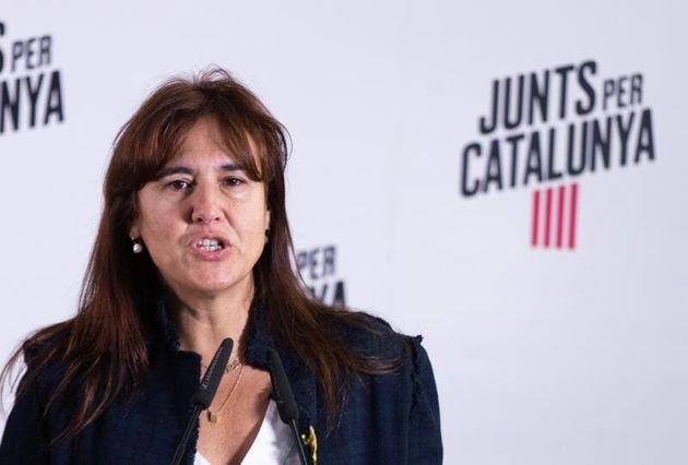La diputada de JxCat Laura Borràs. EFE/Enric