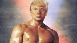 트럼프가 자신과 '록키'를 합성한 사진을 올렸고, 모두가 혼란에