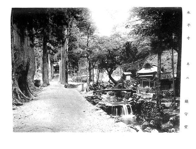 明治42年頃 龍門から唐門を見た風景