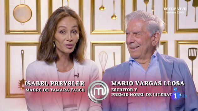 Isabel Preysler y Mario Vargas Llosa en 'MasterChef Celebrity