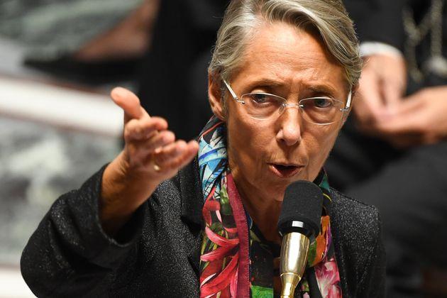 Elisabeth Borne, ministre de la Transition écologique, à l'Assemblée nationale, le 22 octobre