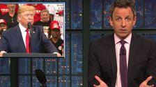 Seth Meyers Kann Einfach nicht Mit Trump 's