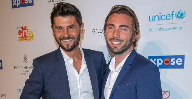 Christophe Beaugrand et son mari Ghislain Gerin, photographiés ici lors d'un gala de charité...
