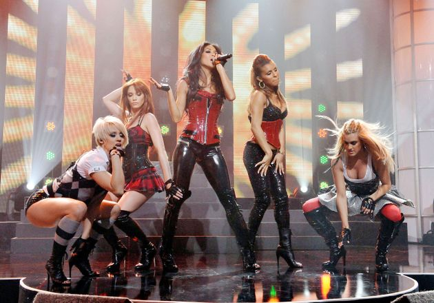 The Pussycat Dolls pictured in