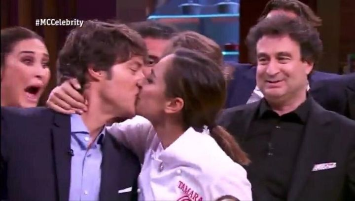Jordi Cruz y Tamara Falcó en la final de 'MasterChef 4'.