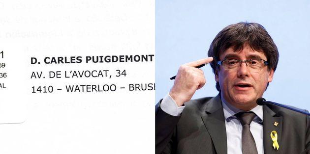 Sobre enviado por el tribunal de Cuentas (i) e imagen del expresident Carles