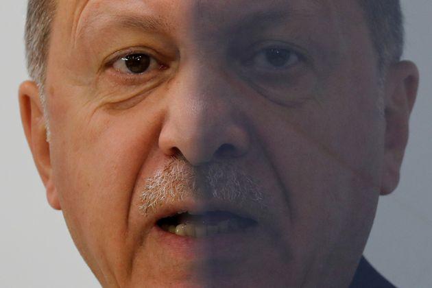 O Ταγίπ Ερντογάν σε ένα...