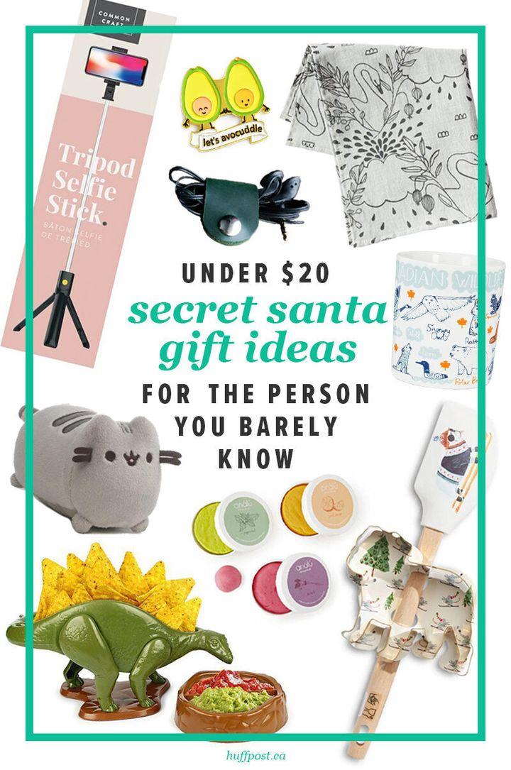 A whole list of fantastic ideas under $20 for your Secret Santa party.