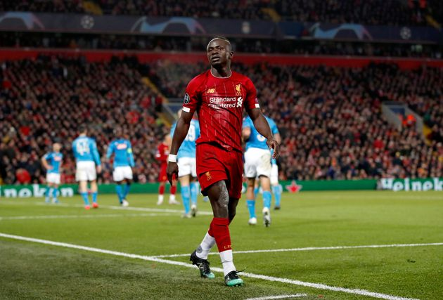 Sadio Mané lors de Liverpool-Naples en Ligue des champions le 27 novembre