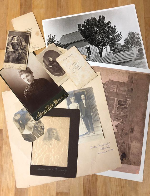 Legacy work, like these photographs the author labelled together with her grandmother, helps create